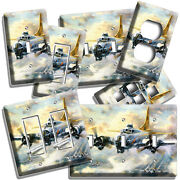 Ww2 Flying Fortress Bomber Plain Light Switch Outlet Wall Plates Boys Room Decor