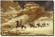 Dust Stained Posse By Frank C. Mccarthy - Outlaws - Western Art