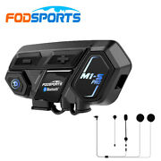 M1-s Pro Motorcycle Intercom 2000m 8 Way Helmet Headset Bluetooth Interphone Gps