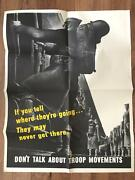Original Wwii If You Tell Where They're Going... Poster War Bonds World