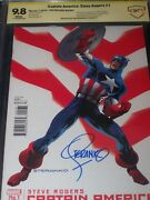 Captain America 1 Cbcs 9.8 Witnessed Signed Jim Steranko Hydra Cap Variant Cover