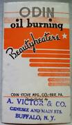 Odin Stove Company Advertising Sales Brochure For Oil Burning Heaters 1930s