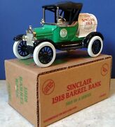 Mib Ertl 9483up Sinclair 1918 Ford Runabout Barrel Bank 1/25 Scale