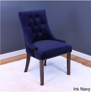 New Tufted Vintage Blue Velvet Dining Kitchen Living Room Chairs Set Of 2 Pair