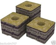Grodan Delta 4 Block 3x3x2.5 With Hole Case Of 384 Save W/ Bay Hydro