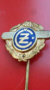 Cz Motorcycle Anniversary Pin 1919 - 1959 Factory Owned By Cagiva Now