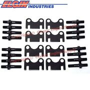 New Flat Guide Plates And 7/16 Rocker Arm Studs Sb Chevy 400 383 350 327 305 283