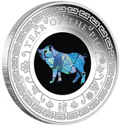 2019 Australia Opal Series Lunar Year Of The Pig 1oz Silver Proof 1 Coin