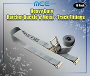 16 Pack 2 X 16and039 E-track Ratchet Strap Truck Trailer Enclosed Cargo Van Tie Down