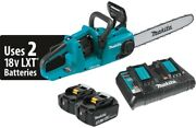 Makita Cordless Chain Saw Kit 16 In 18-volt Lithium-ion Battery Charger Included