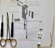 Service / Repair Kit W/tools For 2 Vintage Dunhill Rollagas Lighters +1 Spring