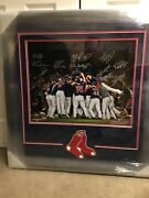 Boston Red Sox 2018 Team Signed Deluxe Framed Photograph