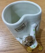 Mint Vintage 70and039s Hand Painted Fitz And Floyd Ff Little Boy Heart Shaped Cup Mug