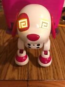 2014 Spinmaster Zoomer Zuppies Puppy Dog, Interactive White And Pink