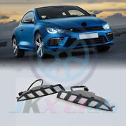 Led Daytime Running Light Drl W/turning Signal J For Volkswagen Scirocco R 10-14