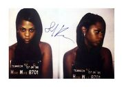 Lil Kim A4 Mug Shot Reproduction Autograph Poster With Choice Of Frame