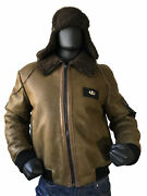 Jakewood Menand039s Olive Green U.s. Air Force Bomber Jacket And Hat Set Size 3xl