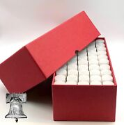 2 Penny Cent Tube Storage Box Coin Holder 19mm Heavy Duty + 100 Clear Case Tubes