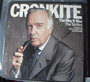 Vintage Signed Walter Cronkite The Way It Was The 60s 1983 3lp Record Set
