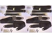 Period Correct E-type S1 And S2 2 Plus 2 Seat Belt Set Front And Rear