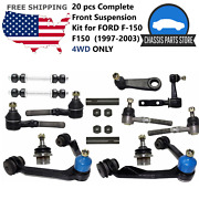 20 Pcs Complete Front Suspension Kit For Ford F-150 F150 1997-2003 4wd