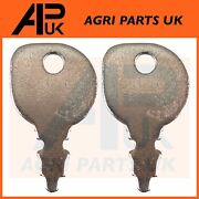 Pack Of 2 Ignition Keys For Ride-on Garden Tractors With Indak Key Countax Honda