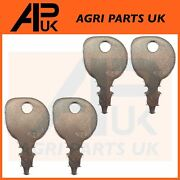 Pack Of 4 Ignition Keys For Ride-on Garden Tractors With Indak Key Countax Honda