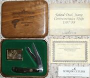 Schrade Knives Duck Stamp Ds15 Made In Usa