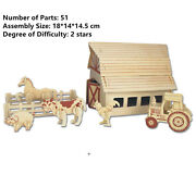 New Assembly Diy Education Toys 3d Wooden Model Puzzles Of Farm House