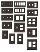 Bronze Wall Switch Plate Outlet Cover Rocker Toggle Light Wall Plate Hampton Bay