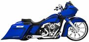 Freedom Performance Turn Out Exhaust In Chrome W/black Cap For Harley 1995-2016