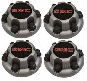 4pcs Matte Silver Gmc Sierra Yukon Savana 6 Lugs 1500 Center Caps 16 17 Wheels