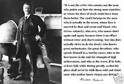 Theodore Teddy Roosevelt In The Arena... Autograph Quote 11 X 14 Photo Poster
