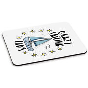 Crazy Sailing Lady Stars Pc Computer Mouse Mat Pad - Funny Sport Boat