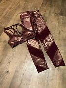 New Victoria's Secret Pink Outfit With Leggings And Matching Sports Bra Size Xs