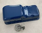 New Boss 429 Mustang Stock Steel Oil Pan Oil Pickup And Correct Bolts Show Paint