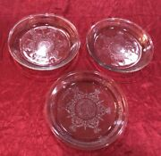1940's Fire King Depression Glass Pie Plate Quantity Of Three