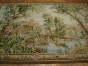 Tapestry Hand-woven 6x8 Aristocratic Mansion View Wall Hanging Area Rug