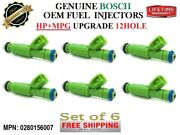 6 New Fuel Injectors 12hole +mpg Add Hp Upg. Oem Bosch For Dodge And Chrysler