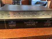 Kjv Old Scofield Study Bible Navy Leather 1917 Notes Red Letter Thumb-indexed