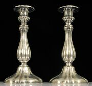 Rare Antique German Silver Johann Christoph Demassieur Beautiful Candlesticks