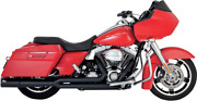 Vance And Hines Pro Pipe 4.5andrdquo 2-into-1 Black Exhaust System 47561 For Harley