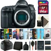 Canon Eos 5d Mark Iv Dslr Camera Body Only + 64gb Kit + Replacement Battery