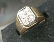 14kt Mens Yellow Gold Diamond. Almost 1/2 Ct