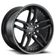 Set4 19 Staggered Niche M194 Methos Matte Black Wheels And Tires
