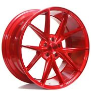 4rims 20 Niche M186 Misano Gloss Red Wheels And Tires