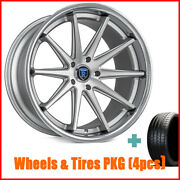 4rims 20 Staggered Rohana Rc10 Machined Silver Wheels And Tires