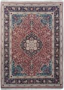 Super Fine New Wool And Silk Traditional Ideal Handmade Rug 9 X 12 Red Rug