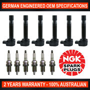 6x Ngk Spark Plugs And 6x Swan Ignition Coils For Honda Accord Cm6 3.0l