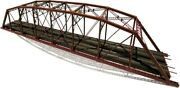 Central Valley 200and039 Double Track Truss Bridge Kit W/shoe Mounts Cvm1900